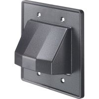 Arlington™ Reversible Low-Voltage Double Gang Entrance Plate - Black