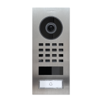 DoorBird IP Video Door Station D1101V Surface-mount, stainless steel V2A, brushed, incl. surface-mounting housing (423866744)